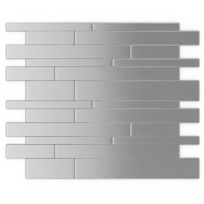Self-Adhesive Metal Tile - Murano S2 - Stainless Steel