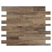 Self-Adhesive Metal Tile - Murano W - Wood Color