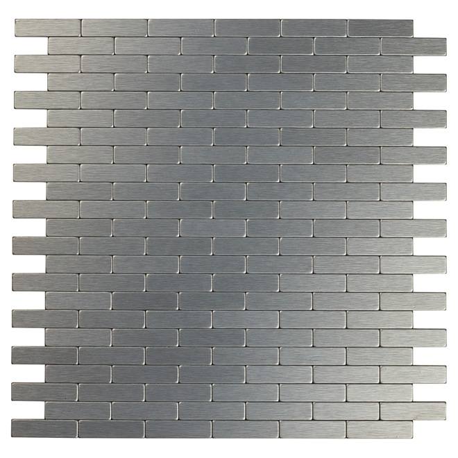 Self Adhesive Metal Tile Bricky Dg Dark Grey Rona