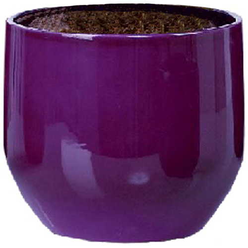 "Ceramic Pot Cover ""Pure Violet"" 13cm - Purple"