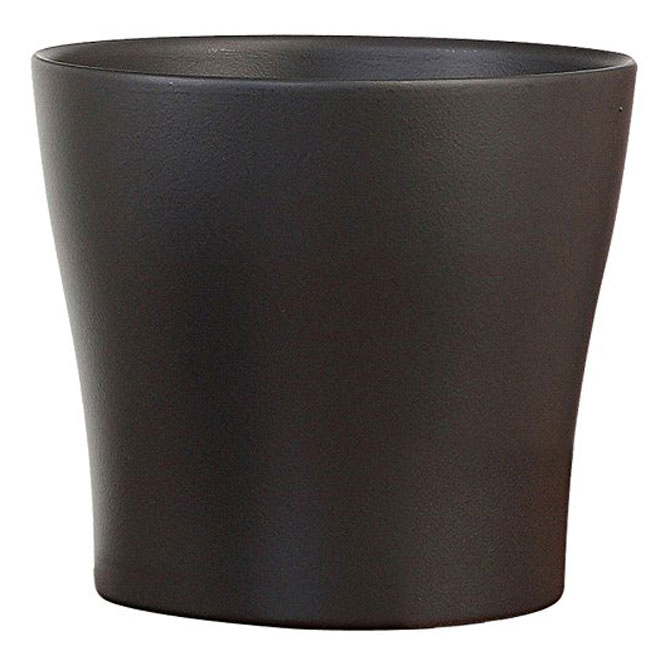"Pot Cover - ""Anthrazit"" Ceramic Pot Cover 10"" - Anthracite"