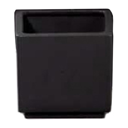 "Square Ceramic Pot Cover 6"" - Black"
