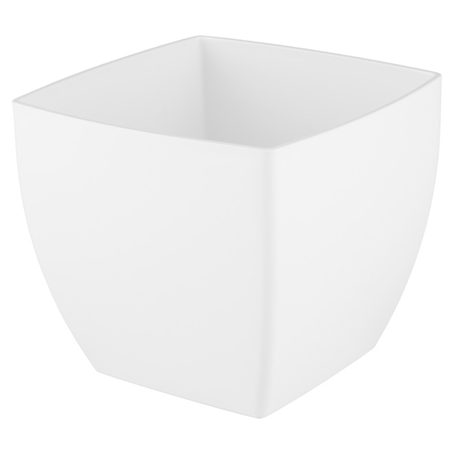 "Plastic Pot Cover ""Siena"" 30cm - White"