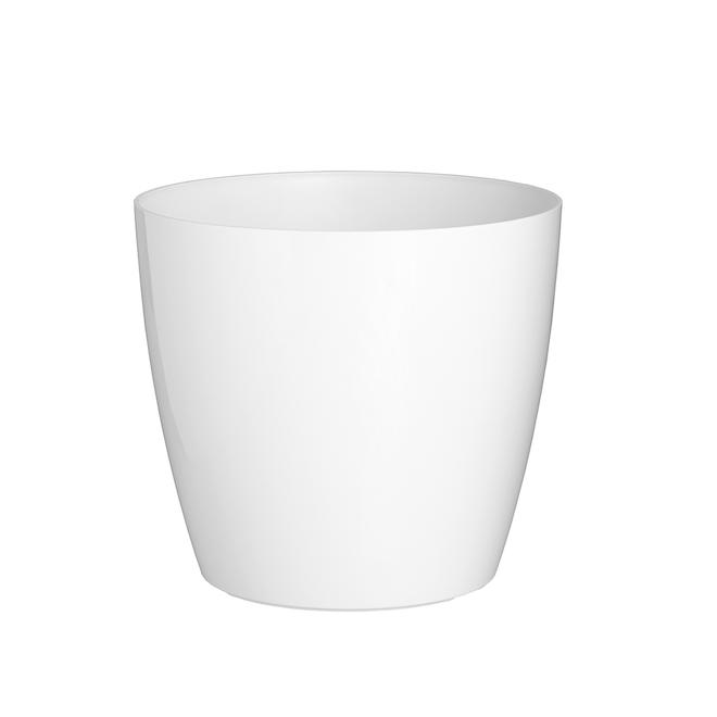 Jardini re en plastique san remo 11 8 po blanc rona for Jardiniere en plastique