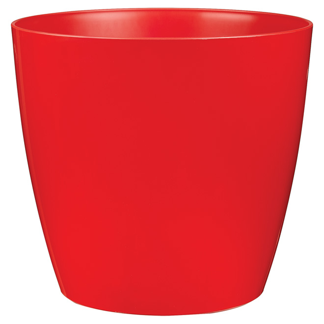 "Cover Pot with Wheels - ""San Remo""  - 14"" - Red"