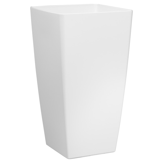 "Tall Cover Pot - ""Piza"" - 23.6"" - White"