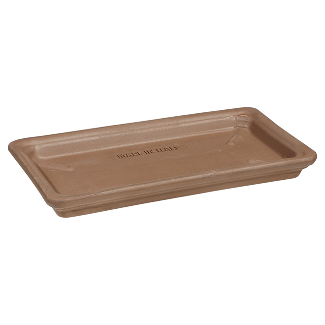 Rectangular Clay Saucer - 32 cm - Moka