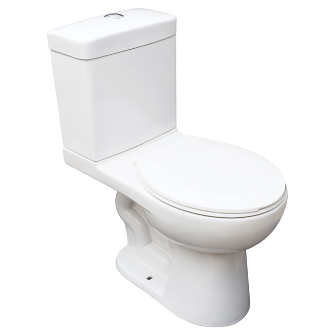 Round Front 2 Piece Toilet 4 L 6 L White Rona