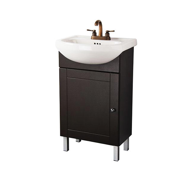 rona sinks bathroom one door vanity chocolate rona 14248