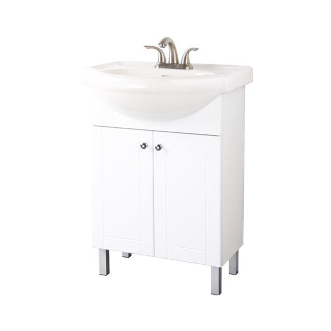 Two door vanity white rona for Lavabo salle de bain rona