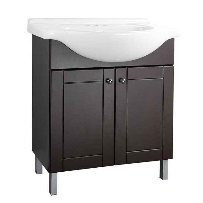 rona sinks bathroom two door vanity chocolate rona 14248