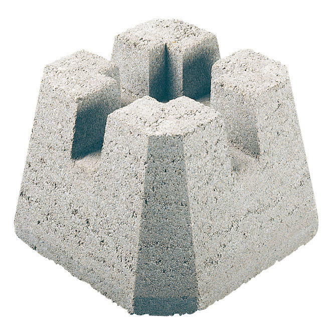 """Dek-Block"" concrete deck base"