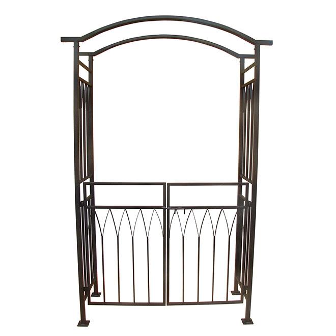 tonnelle d corative avec porte 78 7 po noir rona. Black Bedroom Furniture Sets. Home Design Ideas