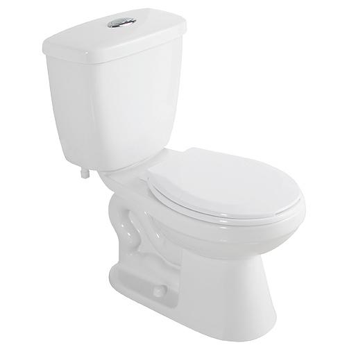 Elongated front 2 piece toilet 4 l 6 l white rona - Modele de toilette wc ...