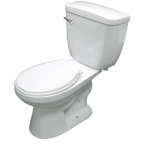 Round Front 2 Piece Toilet 6 L White Rona