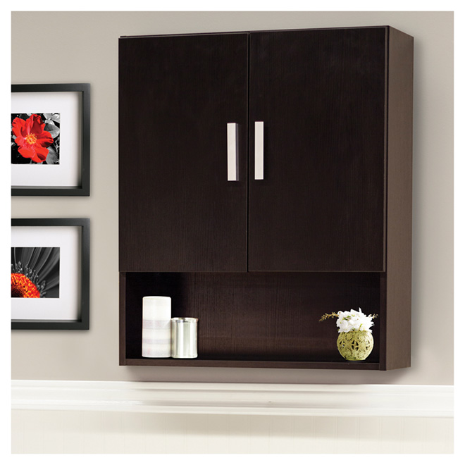 """Sutton"" Wall Cabinet 24 in - Espresso"