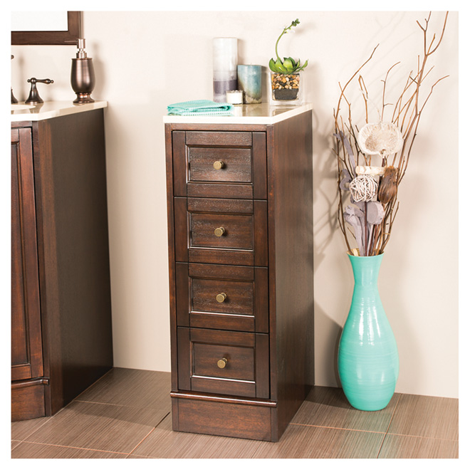 dark walnut bathroom cabinet quot catryn quot bathroom cabinet 3 drawers walnut rona 18056