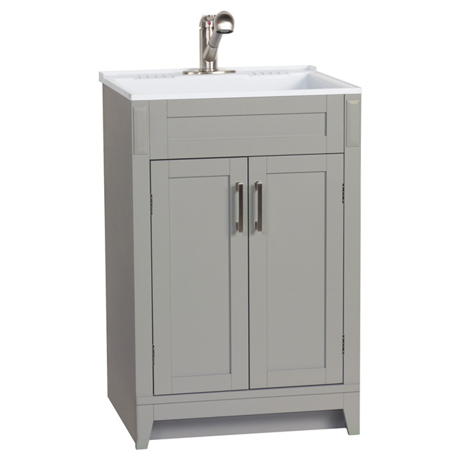 meuble lavabo pour buanderie axbridge 2 portes 24 gris rona. Black Bedroom Furniture Sets. Home Design Ideas
