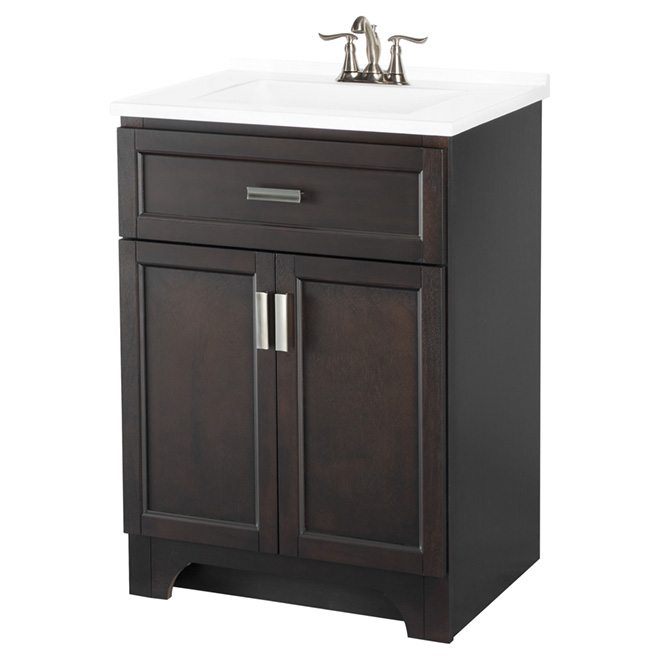 Vanity with 2 Doors - Espresso