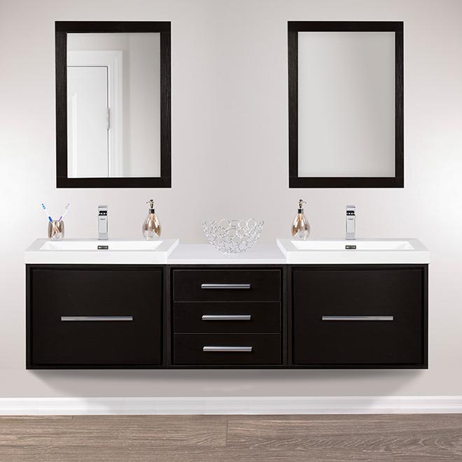 meuble lavabo mural carlington 24 espresso rona. Black Bedroom Furniture Sets. Home Design Ideas