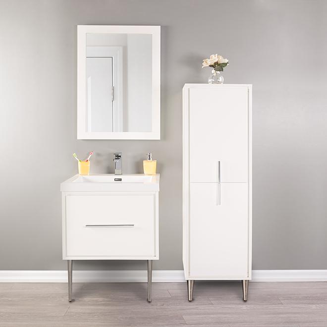 meuble lavabo mural carlington 24 blanc lustr rona. Black Bedroom Furniture Sets. Home Design Ideas