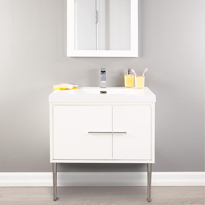 meuble lavabo mural carlington 30 blanc lustr rona. Black Bedroom Furniture Sets. Home Design Ideas