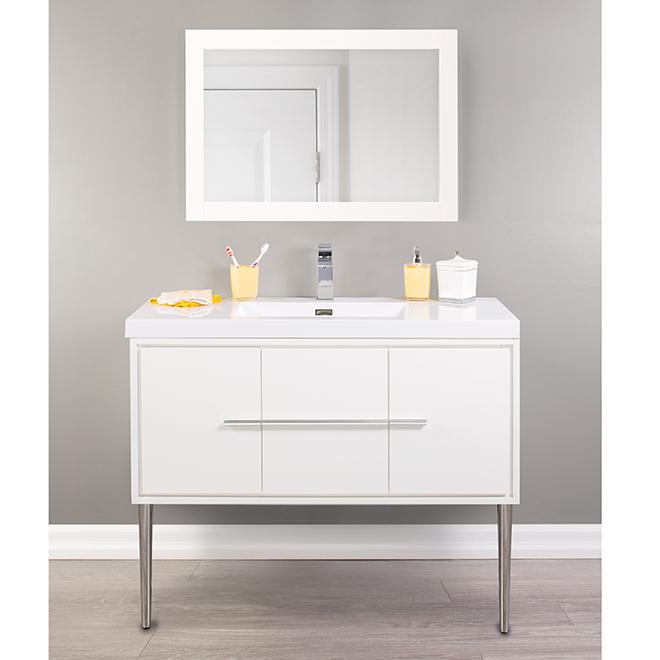 meuble lavabo mural carlington 42 blanc lustr rona. Black Bedroom Furniture Sets. Home Design Ideas