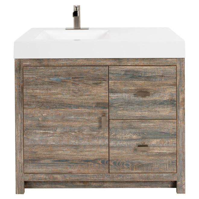 meuble lavabo sagona 1 porte 2 tiroirs 36 rustique rona. Black Bedroom Furniture Sets. Home Design Ideas