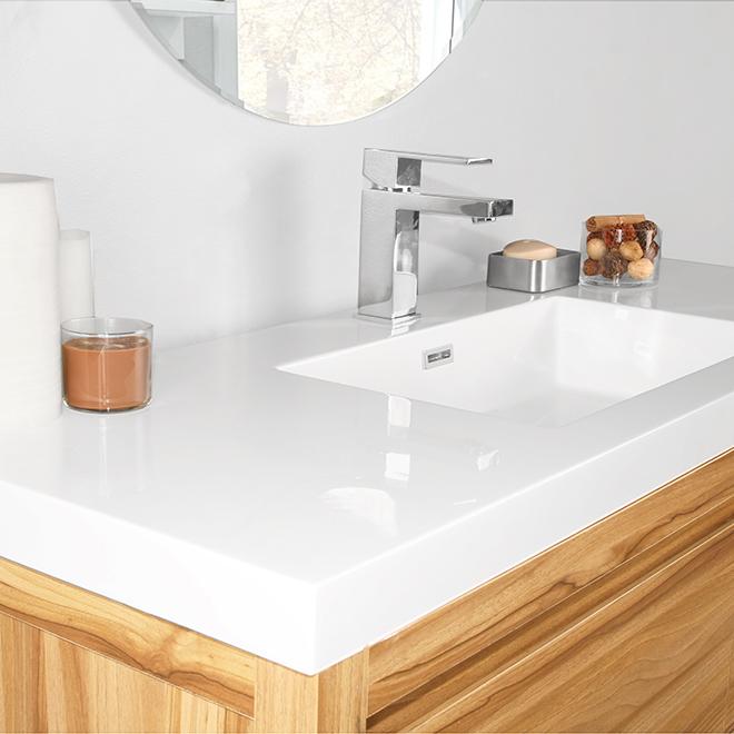 meuble lavabo elvyne 4 tiroirs 48 noyer clair rona. Black Bedroom Furniture Sets. Home Design Ideas