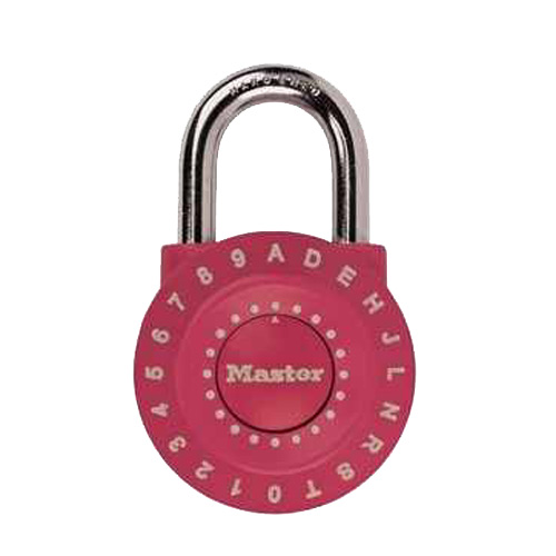 Padlock with Letters/Numbers - Metal - Assorted Colors