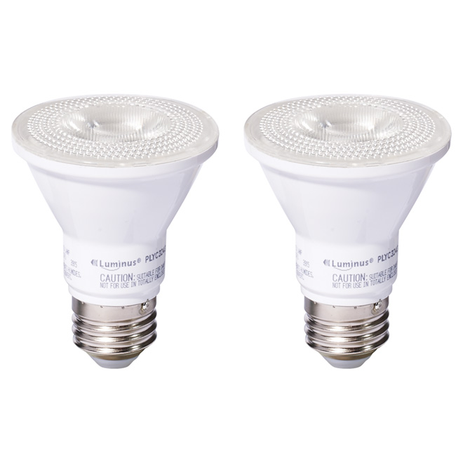 7W LED Dimmable PAR20 Bulb - Bright White - Pack of 2