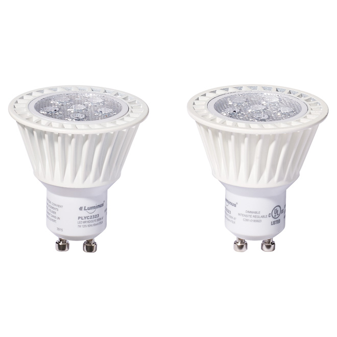 LED Bulb GU10 7W - Bright White - Pack of 2