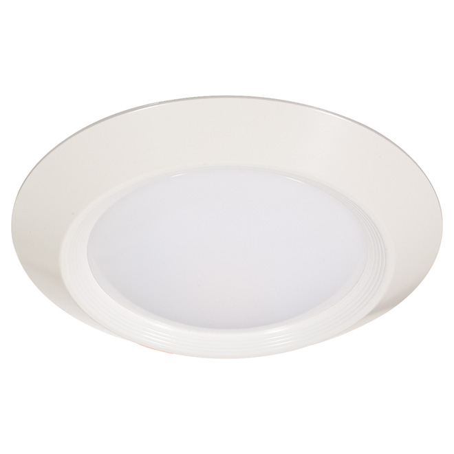 Luminaire rond DEL, 11,5 W, intensité variable, blc brillant