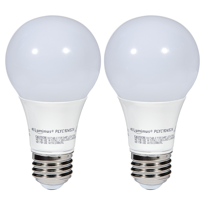 6W LED Non-Dimmable A19 Bulb - Day Light - 2-Pack