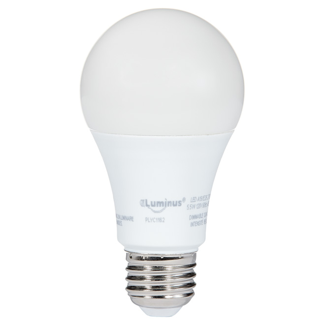 LED Bulb 5.5W A19 - Dimmable - Warm White