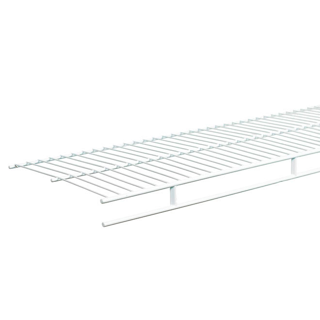"Wire Shelf and Rod 12"" x 96"" - White"