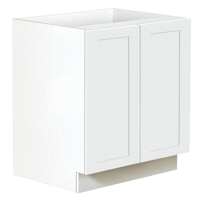"""San Diego 2-Door Kitchen Cabinet - 30"""" - White"""