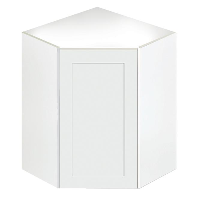 Armoire de cuisine de coin 1 porte san diego blanc rona for Armoire en coin cuisine