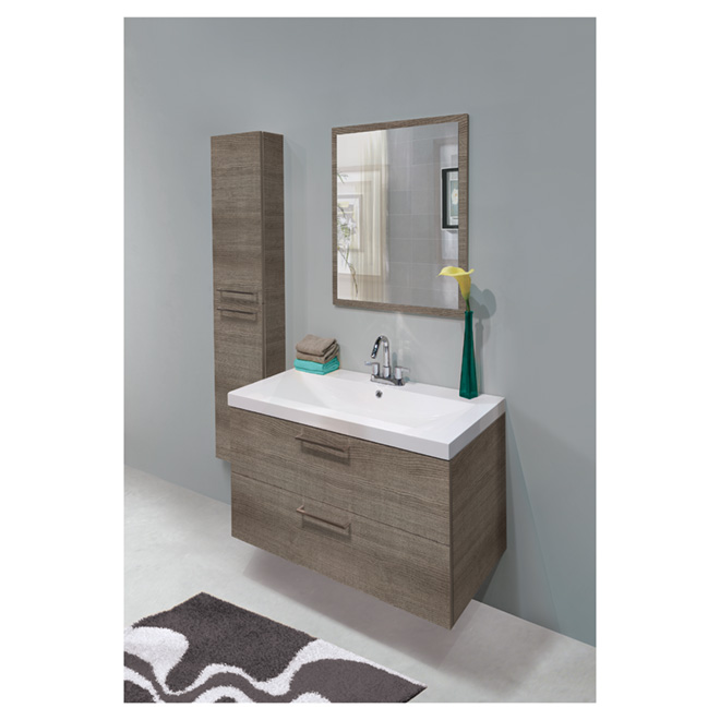 meuble lavabo suspendu au mur lakewood absinthe rona. Black Bedroom Furniture Sets. Home Design Ideas