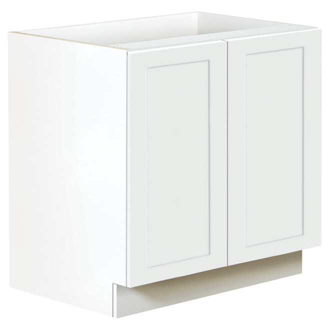 San Diego Base Cabinet 2 Doors 36 Quot White Rona