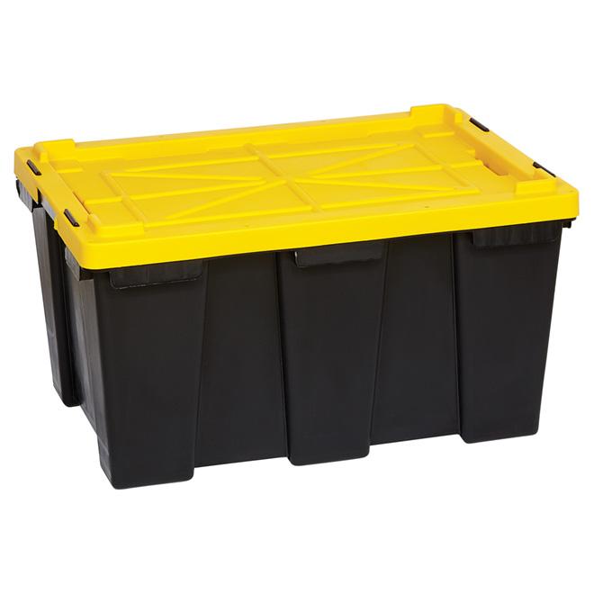 Heavy Duty Storage Bin 104l Black Yellow Rona