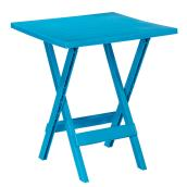 Table d'appoint pliante pour patio Adirondack, bleu sarcelle