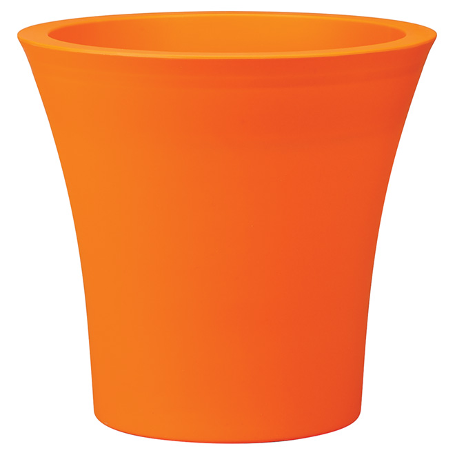 """Urban"" Plastic Pot - 15.8"" - Orange"