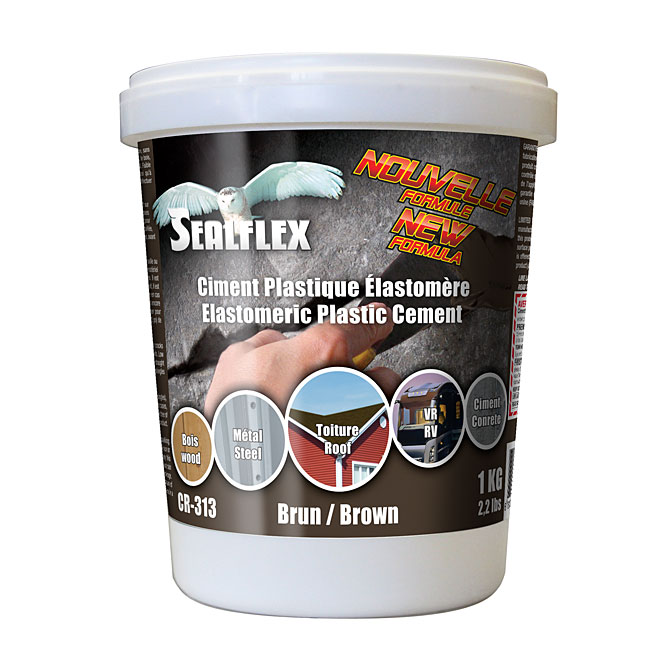 SEALFLEX Elastomeric Plastic Cement - Brown, 1 kg