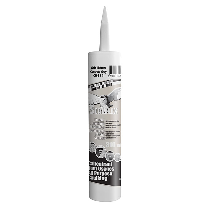 SEALFLEX Elastomeric Plastic Cement - Grey, 300 ml