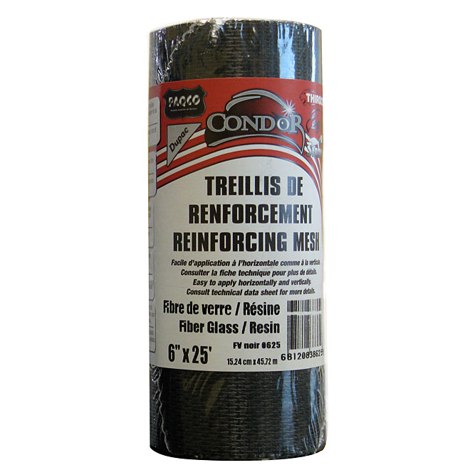 Fiberglass Reinforcing Mesh 6 in x 25 ft - Black