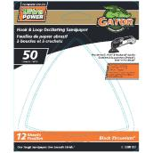 Detail Sanding Sheets - 50 Grit - 12-Pack