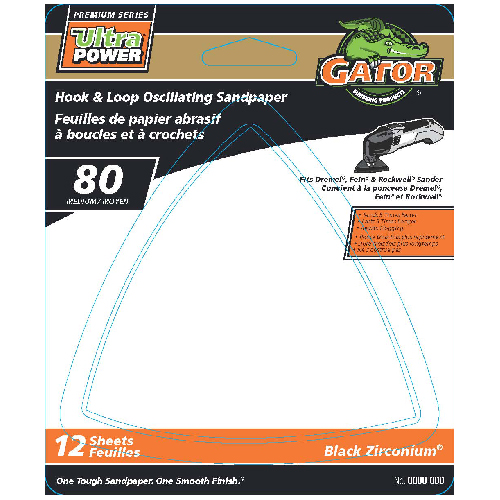 Detail Sanding Sheets -80 Grit - 12-Pack