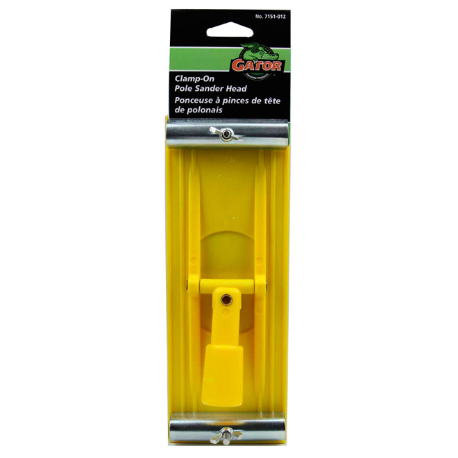 "3 1/4"" x 8 7/8"" Yellow Plastic Pole Poncer"