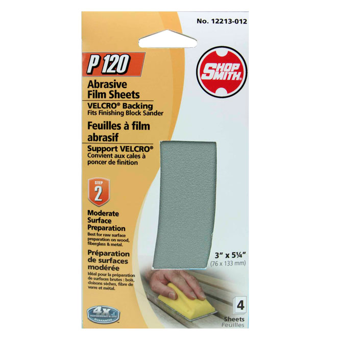 Sanding Sheets - Moderate Prep - 120 Grit - 4-Pack